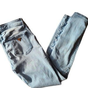 """Guess """"Sexy Curve"""" light denim ripped jeans"""